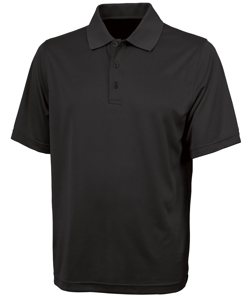 Men?s Smooth Knit Solid Wicking Polo