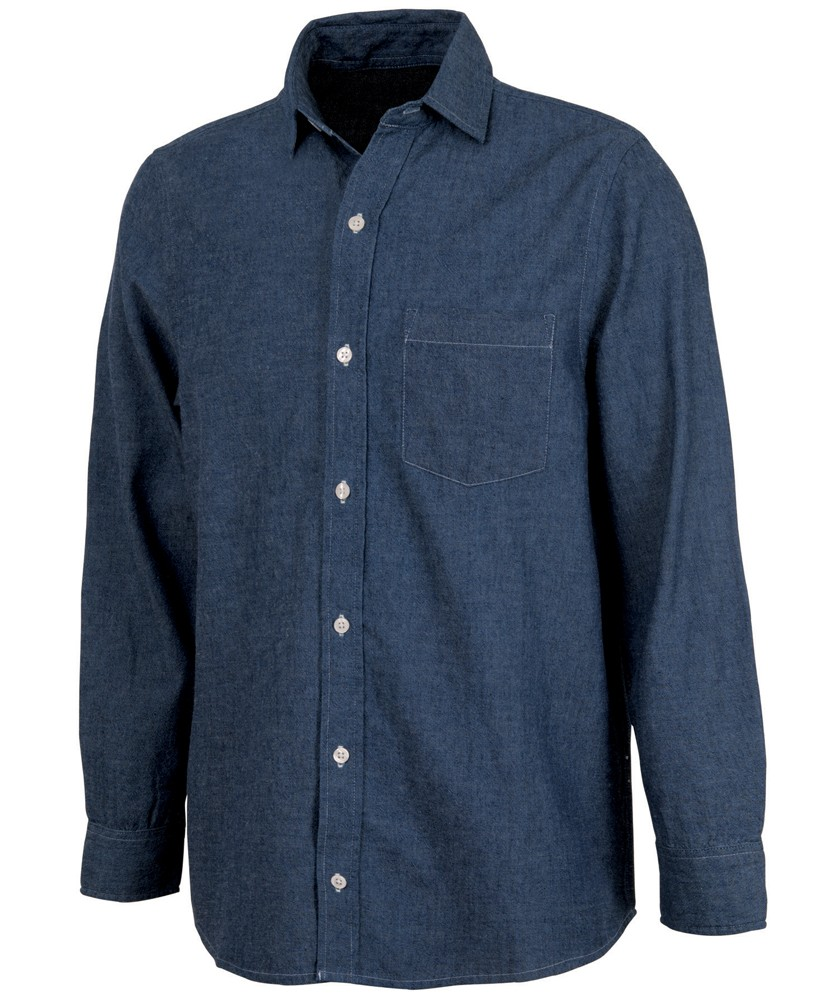 Men?s Straight Collar Chambray Shirt