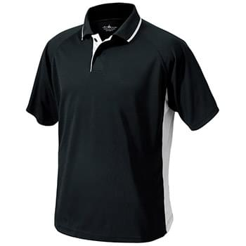 Men?s Color Blocked Wicking Polo